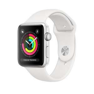 Apple Watch Series 3 GPS + Cellular 42mm Silver Aluminium Case With White Sport Band £209.97 @ Laptops Direct