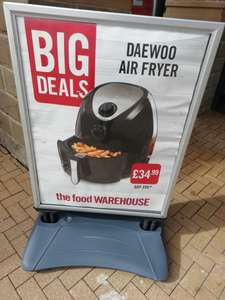 3.6 litre DAEWOO Airfryer £34.99 at Iceland warehouse