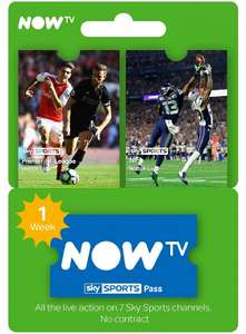 NOW TV Sky Sports 1 Week Pass - £2.99 - Electronic First