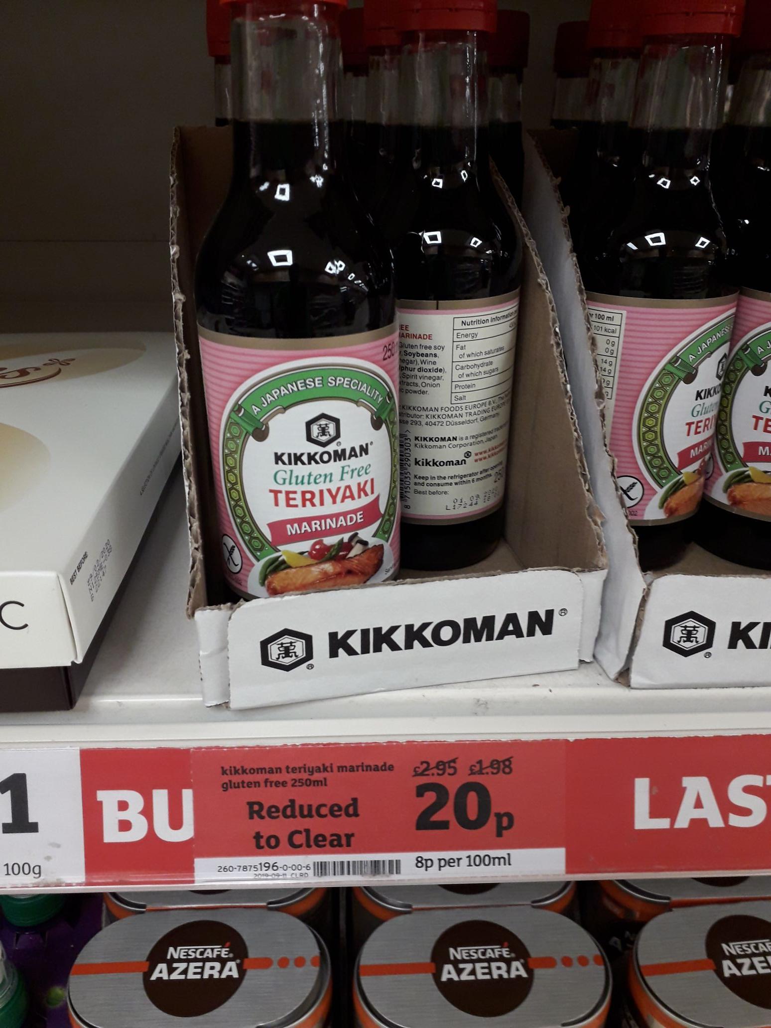 Kikkoman Gluten-Free Teriyaki Marinade - Reduced to Clear - 20p Instore at Sainsburys (Kirkcaldy)