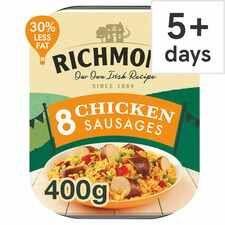 Richmond Chicken Sausages 400G for 95p @ Tesco