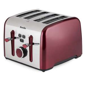 Breville VTT628NO Colour Notes 4 Slice Toaster in Pearlescent Red £24.95 @ Sonic Direct