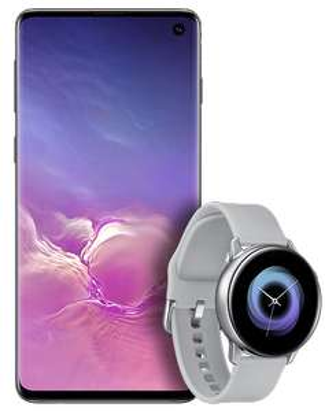 45GB 4G Data + Free Samsung Watch Active + Samsung Galaxy S10 128GB Smartphone £35pm/£40 Upfront - O2 - £880 @ Mobiles.co.uk Via Uswitch