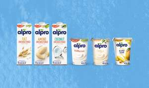 Alpro dairy alternative drinks and yoghurt alternatives 2 for £2 at Waitrose and Partners