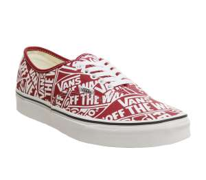 Vans authentic logo print red/white £20 Free click & collect @ OFFICE