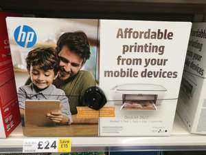 HP Deskjet 2622 Wireless Printer & 2 Months Instant Ink £24 @Tesco