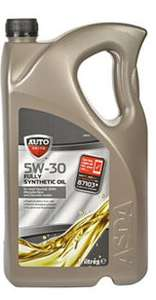 Asda Engine Oil Vauxhall Dexos 2 5l, Instore and Online - £15