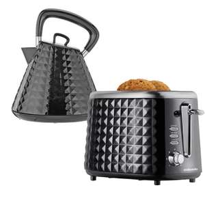 Cookworks Textured Kettle or Toaster in Black -  £19.99 each (Free C&C) @ Argos
