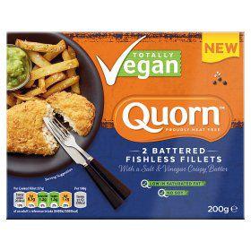 Quorn Totally Vegan 2 Battered Fishless Fillets 200g £1.50 at Asda