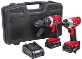 18V 2x 2Ah Li-Ion Cordless Combi Drill & Impact Driver Kit £83.94 @ CPC Farnell