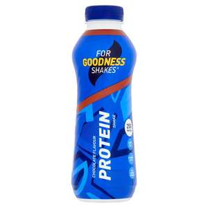 For Goodness Shakes High Protein Shake Chocolate or Strawberry 475Ml £1 @ Tesco