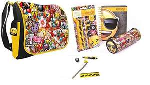 Emoji Notepad, Pencil Case and Stationery Set and Messenger Shoulder Bag £5 with promo (Account specific) - Sold by Click Shop Direct / FBA