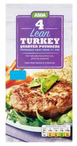 4 Lean Turkey Quarter Pounders for £1.33 @ Asda (In Store)
