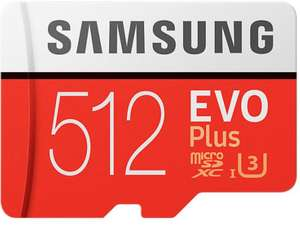 Samsung 512GB EVO Plus Micro SD U3 Class 10 100MB/s Read, 90MB/s Write, card+Adapter for £71.99 With Code, Delivered @ Yotlso/Ebay