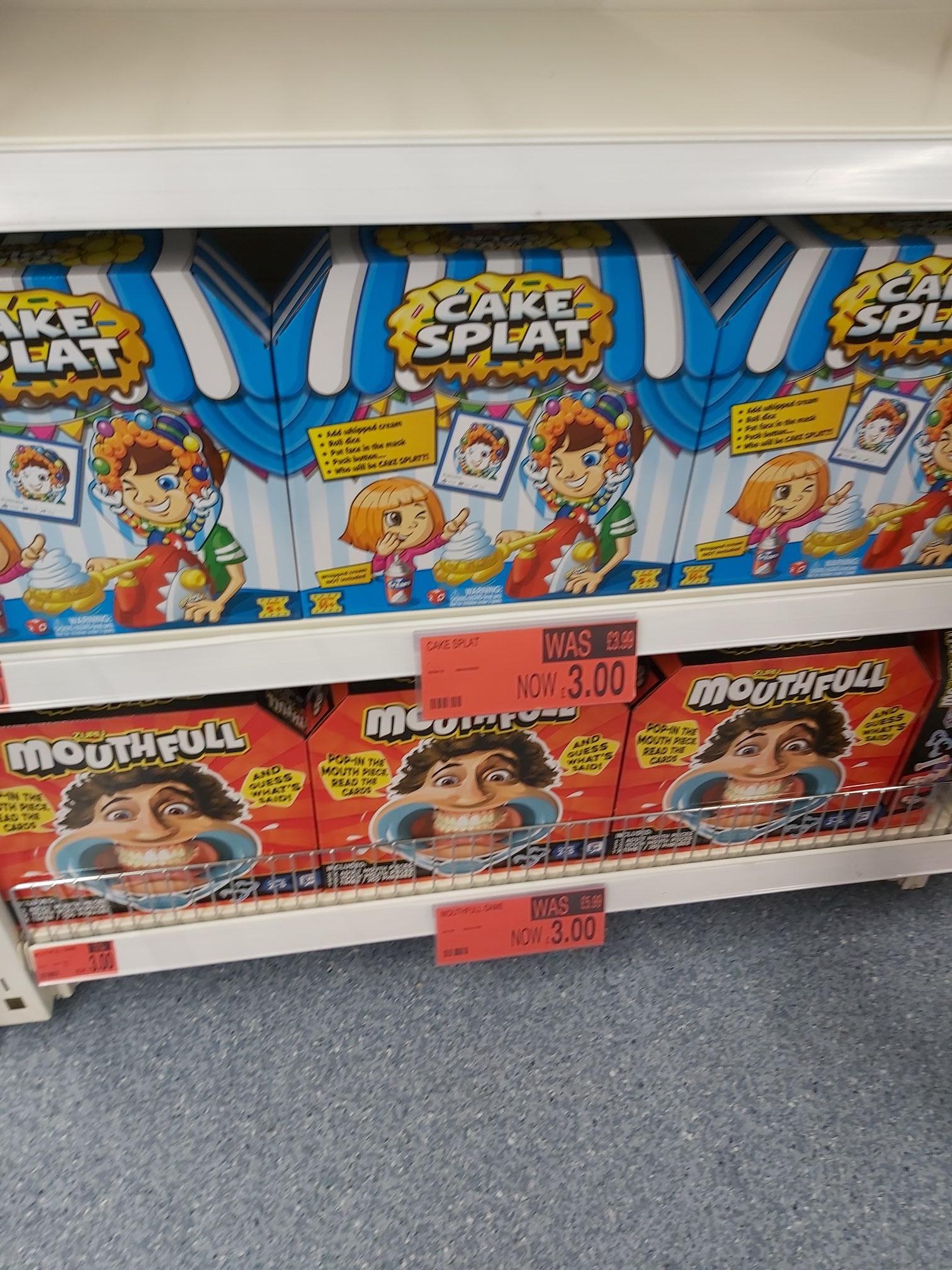Cake Splat and Mouthful Games £3 @ B&M