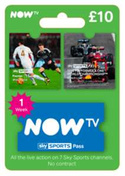 Now TV Sky Sports Week pass only £2.69 @ CDKeys