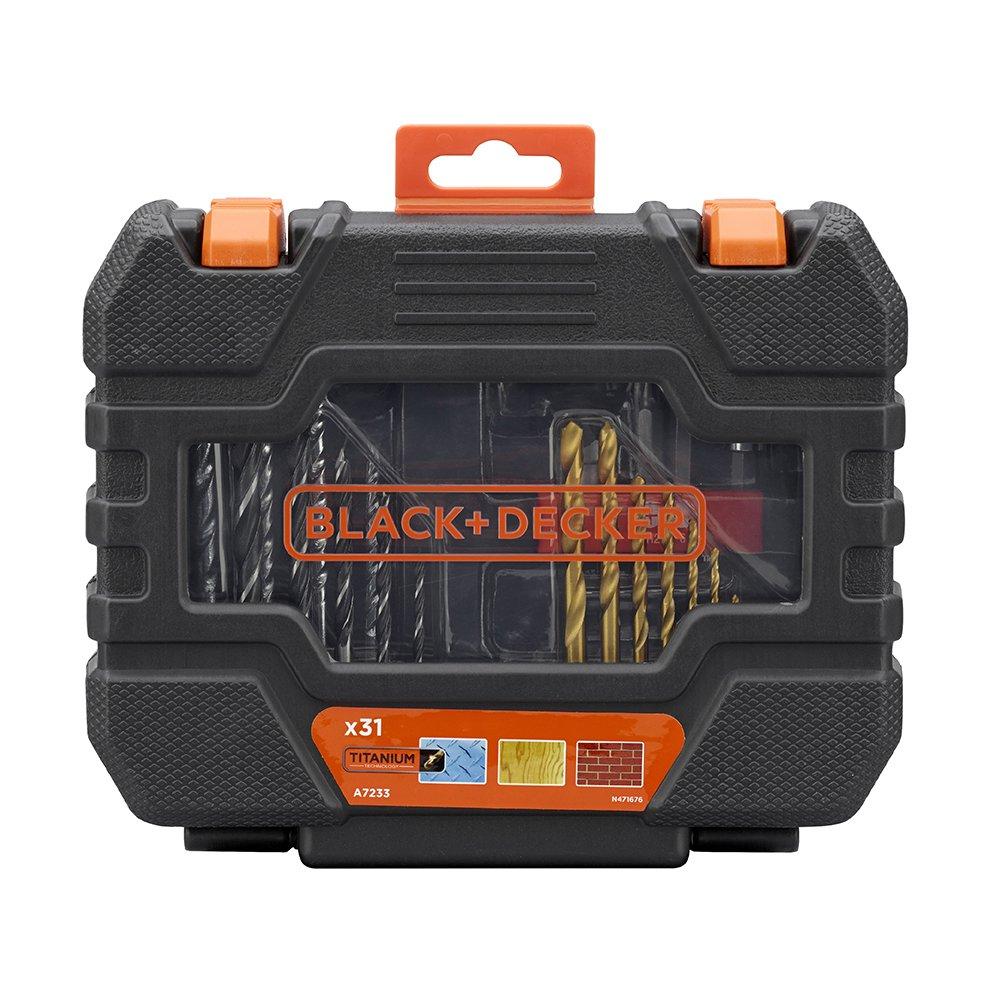 BLACK+DECKER A7233-XJ 31 Piece Drill Set - Black £10.99 at Amazon (+£4.49 NP)