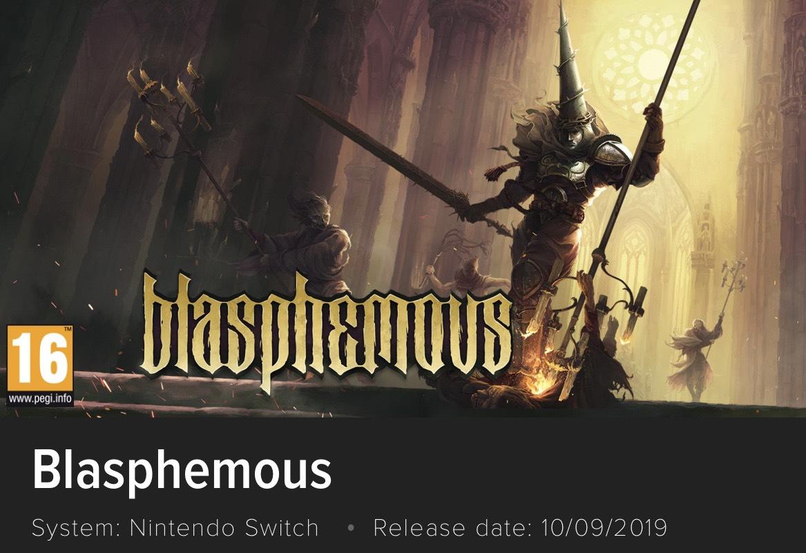 Blasphemous (Nintendo Switch) £17.99 @ Nintendo eshop UK