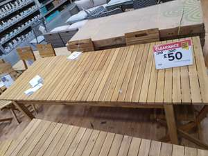 B&Q 6 seater to 8 seater table down from £150 to £50 at Derby store