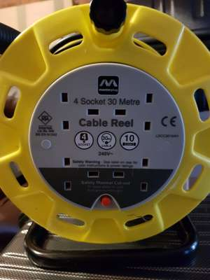 Masterplug 4 Socket 30 Metre extension cable reel - £20 instore @ Homebase (Mold store)