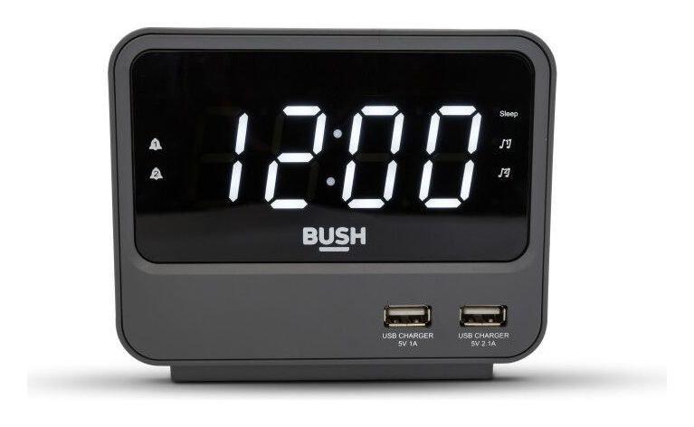 Bush FM USB Clock Radio - Black/grey, £7.99 at Argos free click & collect