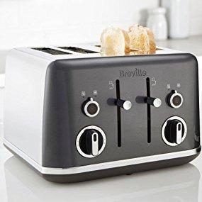 Breville VTT853 Lustra Storm 4 Slice Toaster, Stainless Steel, Grey £29.99 Delivered @ Amazon