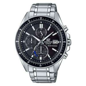 Casio Edifice Men's Solar Powered Sapphire Glass Steel Bracelet Watch, £88.20at H.Samuel