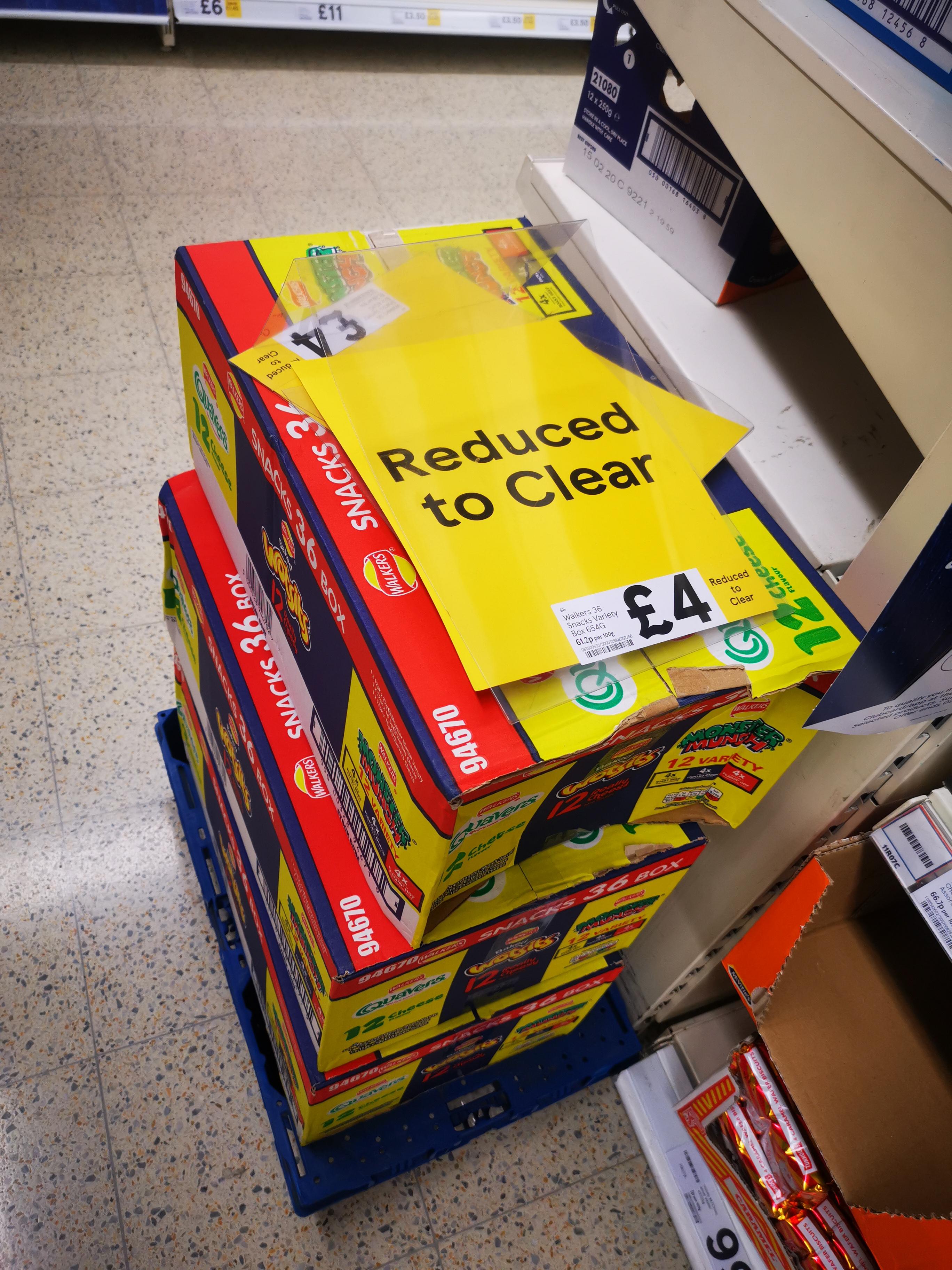 36 Box Of Walkers Crisps, 12 x Quavers, 12 x Monster Munch, 12 x Wotsits, £4 @ Tesco Metro, St Enoch, Glasgow