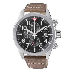 CITIZEN  Brown Leather Chronograph Watch £56 at TKMaxx (Free C&C)