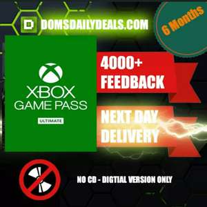 6 Months Xbox Ultimate Game Pass with code £20.37 @ Gamivo (DominationGames)