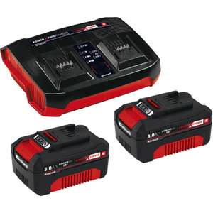 Einhell / Ozito Power X-Change 18V Li-Ion Twin Battery & Charger Kit 2 x 3.0Ah £49.99 @ Toolstation