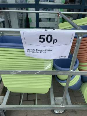 Planters and pots 50p various colours @ Wickes online / instore