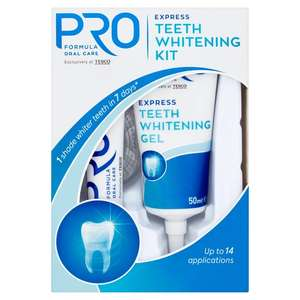 Pro Teeth whitening kit £3 at Tesco Instore and online