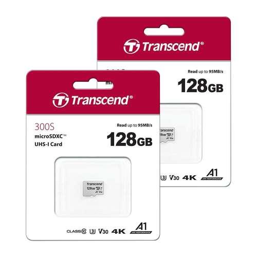 TWIN Pack 128GB: Transcend MicroSDXC Memory Card UHS-I U3 V30 A1 Class 10 for 4K, HD = £24.98 @ 7dayshop