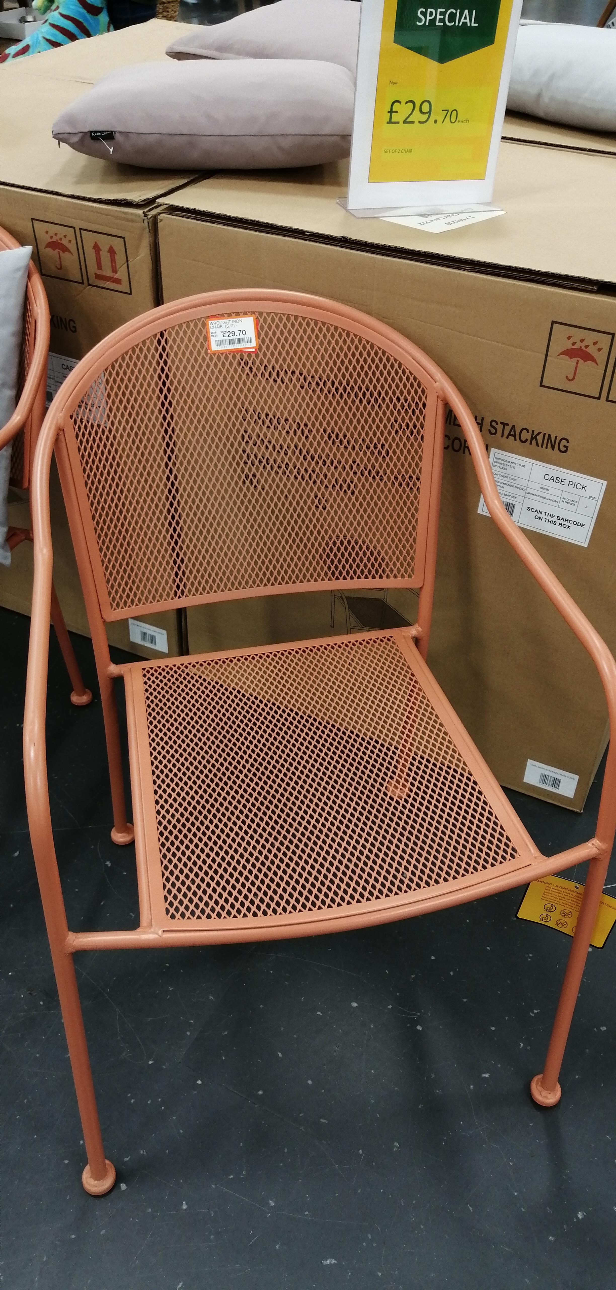 2 wrought iron garden chairs £29 @ Dobbies garden centre Nuneaton
