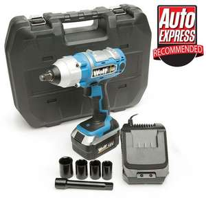 """Wolf 380NM Torque 18v Cordless 1/2"""" Impact Wrench Kit £53.95 + £4.16 delivery @ Manomano"""