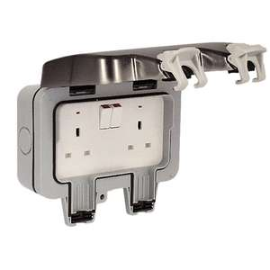 Masterplug 13A Twin Exterior Switched Socket £10 @ Wickes (Free Click & Collect)
