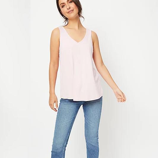 Asda - Pale Pink V-Neck Swing Vest Top - Size 8&10 Free C&C - £2.00 was £4.00