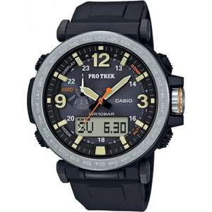 Casio Mens Pro Trek Solar Powered Black Digital Watch PRG-600-1ER - £199 @ Watches2U