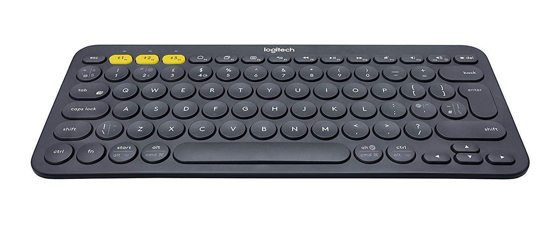Logitech K380 Multi-Device Bluetooth Keyboard Black for £16.19 Student Prime/£17.99 Prime/ +£4.49 NP @ Amazon UK