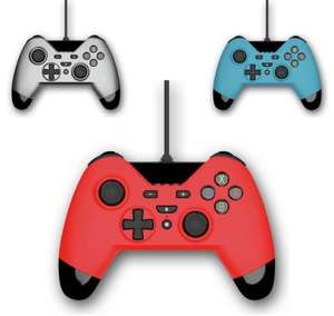 Gioteck WX-4 Ergonomic 2.5metre Wired Nintendo Switch Controllers - Titanium / Red / Blue for £14.99 @ Argos
