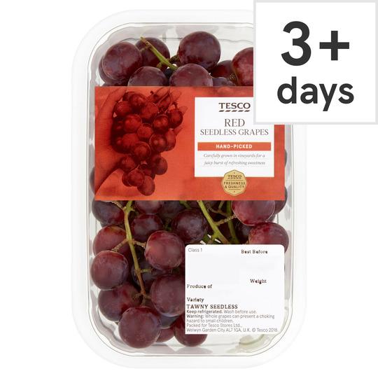 Tesco Red Seedless Grapes Punnet 500G £1 @ Tesco