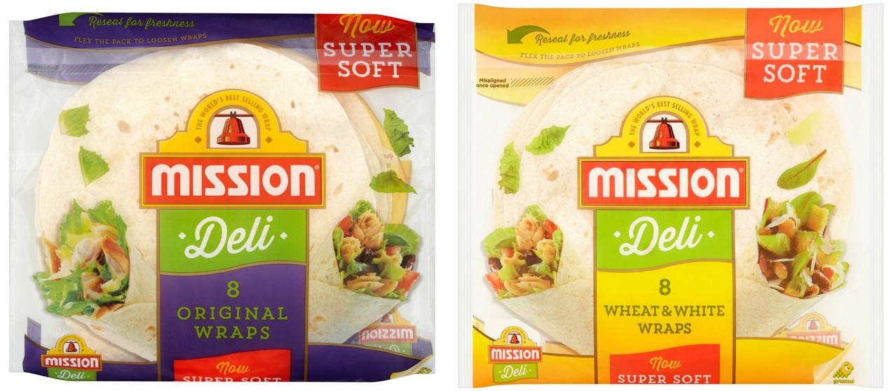 Mission Deli Original Wraps or Wheat & White 8 per pack for £1 @ Morrisons