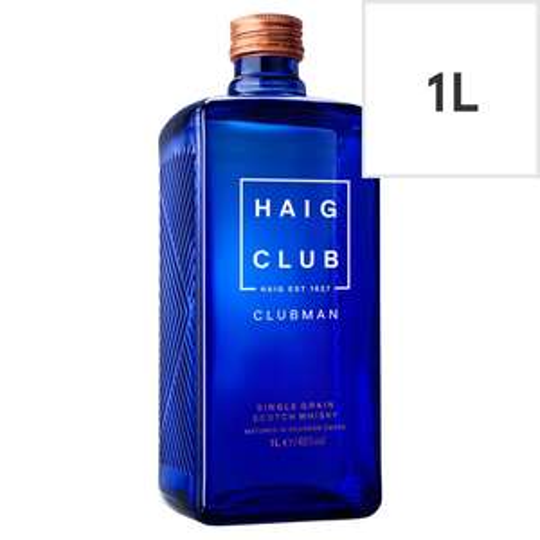 Haig Club Clubman Scotch Whisky 1L now £22 Asda