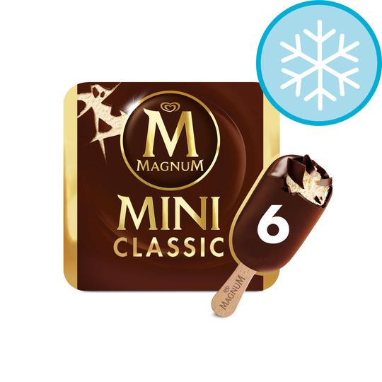 Magnum Mini Classic/Mint/White Chocolate/Classic Almond Ice Cream 6 X 55Ml £1.94 @ Tesco