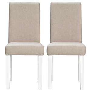 Upholstered 2 Dining Chairs - Grey White for £47.95 delivered @ George
