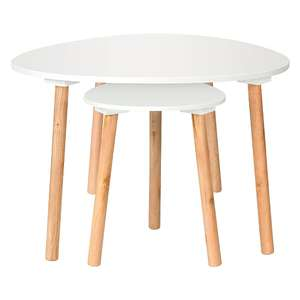 Duo of Tables - White for £11.25 @ George (p&p £2.95)