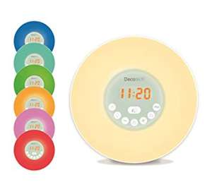 Decotech sunrise digital colour changing alarm clock scanning as £5 ASDA hunts cross