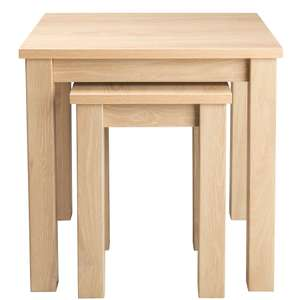 Newhampton Nest of Tables or Leighton Nest of Tables (Natural) for £18 @ George (p&p £2.95)