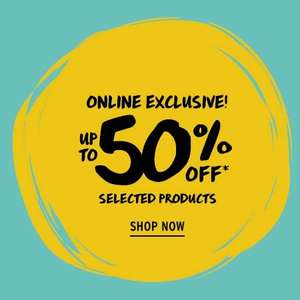 The body shop selected items upto 50% off online. 20% off with code.